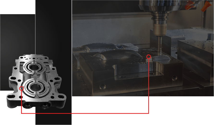 The die mold industry depends on Methods Machine Tools for best in class machining solutions and engineering services from 5 Axis machining to EDM applications.